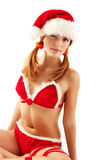 Christmas girl seductive Royalty Free Stock Photos