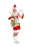 Christmas girl shopping Stock Photo
