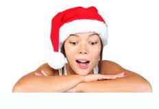 Christmas girl sign Royalty Free Stock Photo