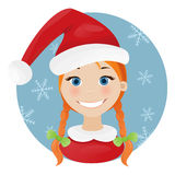 Christmas girl smile Royalty Free Stock Photo