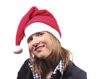 Christmas girl smiling Stock Images