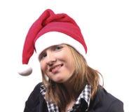 Christmas girl smiling stock images