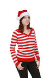 Christmas girl smiling - isolated Stock Image