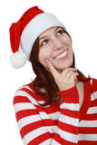 Christmas girl smiling - isolated Stock Photo