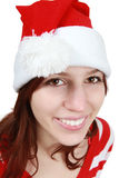 Christmas girl smiling - isolated Stock Image