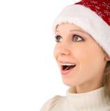 Christmas girl surprised Royalty Free Stock Photos