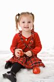 Christmas Girl Toddler Royalty Free Stock Photography