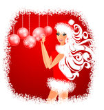 Christmas Girl. Vector illustration Stock Image