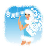 Christmas Girl. Vector illustration stock photography
