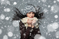 Christmas girl, winter concept. Stock Images