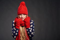 Christmas girl, winter concept Stock Photos
