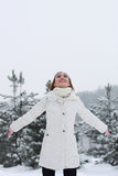 Christmas Girl.Winter woman Royalty Free Stock Photo