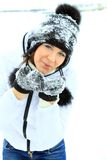 Christmas Girl.Winter woman Royalty Free Stock Photos