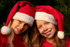 Christmas girls stock photos