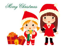 Christmas girls. Vector illustration about Christmas girls Royalty Free Stock Photo