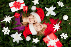 Christmas girls Stock Photography