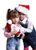 Christmas girls. Royalty Free Stock Photography