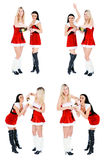 Christmas girls drink champange Royalty Free Stock Images