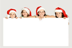 Christmas girls Stock Photo