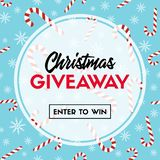 Christmas giveaway template with candy canes royalty free illustration