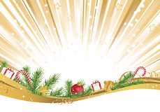 Christmas gives on burst of light wave Royalty Free Stock Images