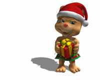 Christmas Giving Bear. Holding out a Christmas gift vector illustration