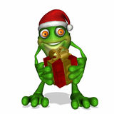 Christmas Giving Frog Stock Photography