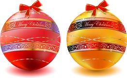 Christmas glas balls decoration background Stock Photos