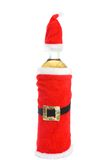 Christmas glass. Bottle of wine for Christmas Royalty Free Stock Photography