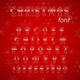 Christmas glass alphabet. Royalty Free Stock Photos