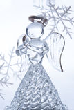 Christmas glass angel. On white background stock photo