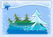 Christmas glass background Stock Photography