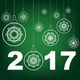 Christmas Glass Ball Winter Banner Stock Images