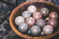 Christmas Glass Balls Stock Photo