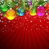Christmas glass balls. Stock Photo