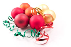 Christmas glass balls Royalty Free Stock Photos
