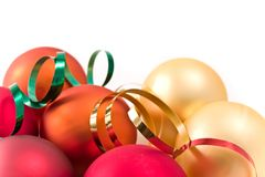 Christmas glass balls Royalty Free Stock Image