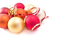 Christmas glass balls Stock Photography
