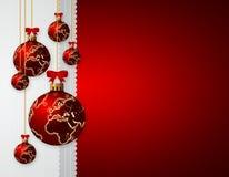 Christmas glass balls over dark background Stock Photography