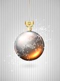 Christmas glass balls with world map Stock Image