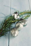 Christmas glass baubles Royalty Free Stock Photo