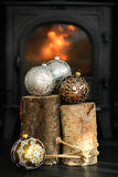 Christmas glass baubles Royalty Free Stock Photography