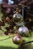 Christmas glass baubles Royalty Free Stock Photos