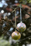 Christmas glass baubles Royalty Free Stock Images