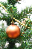 Christmas glass ornament Stock Images