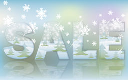 Christmas glass sale banner Stock Images