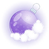 Christmas glass sphere. Fir-tree ornament. Vector illustration Royalty Free Stock Images