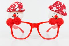 Christmas glasses Stock Photography