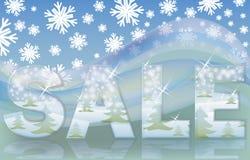 Christmas glasses sale card Stock Image