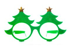 Christmas glasses on white background royalty free stock images